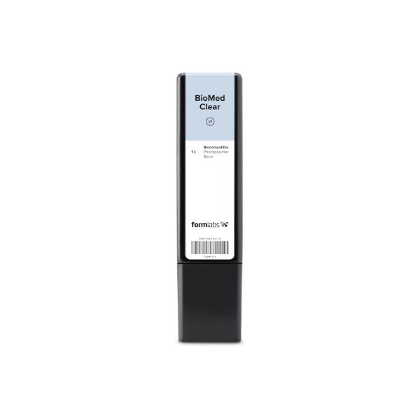 Formlabs - BioMed Clear Resin Cartridge (1L) for Form 2 and Form 3B.